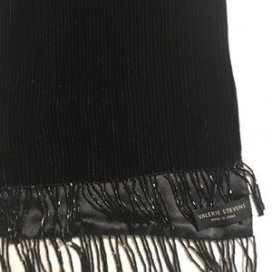 """Valerie Steven's 60x10 2"""" bead ends black wrap"""
